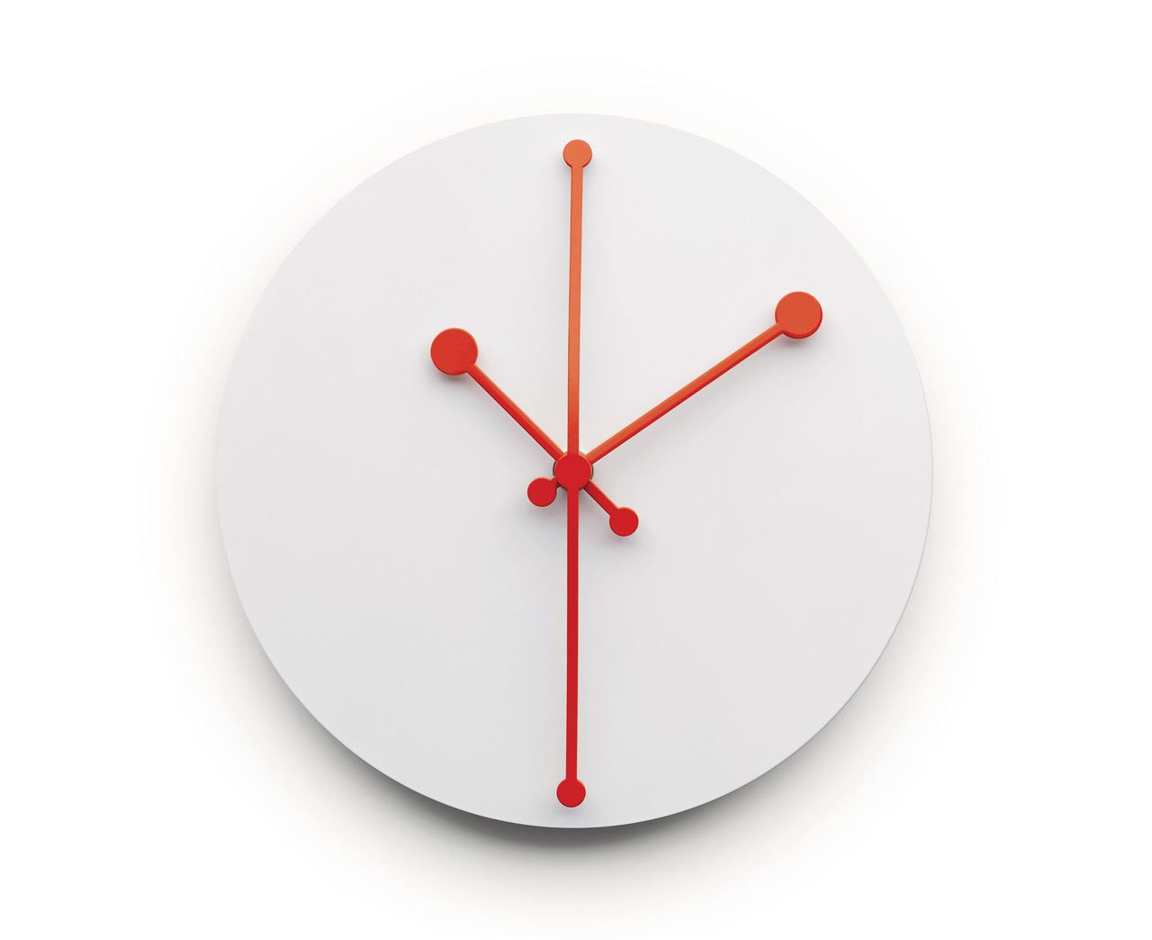Dotty Clock By Alessi, Wall Mounted Clock Design Abi Alice