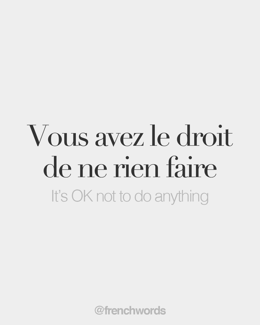 Every day, new French words to discover. Because French is beautiful.