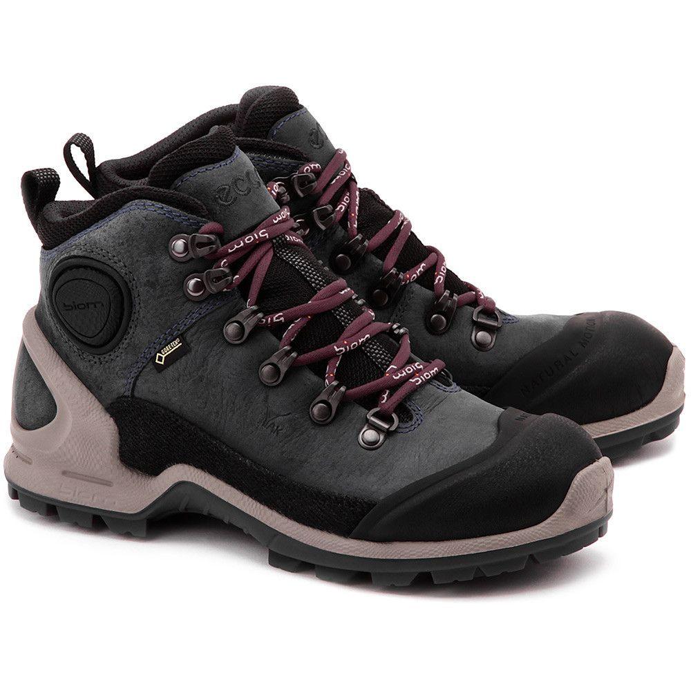 Ecco Biom Terrain Grafitowe Nubukowe Trekingowe Damskie Buty Kobiety Trekingowe Mivo Hiking Boots Boots Shoes