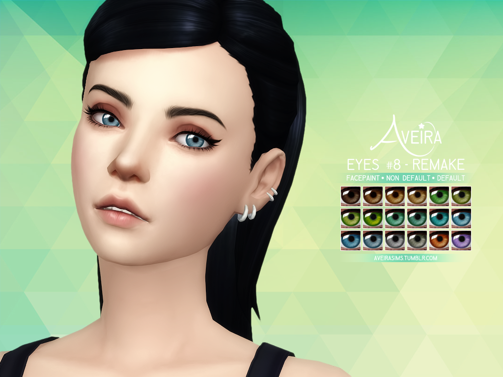 Aveira S Sims 4 Eyes 8 Remake 18 Colors Hq Compatible