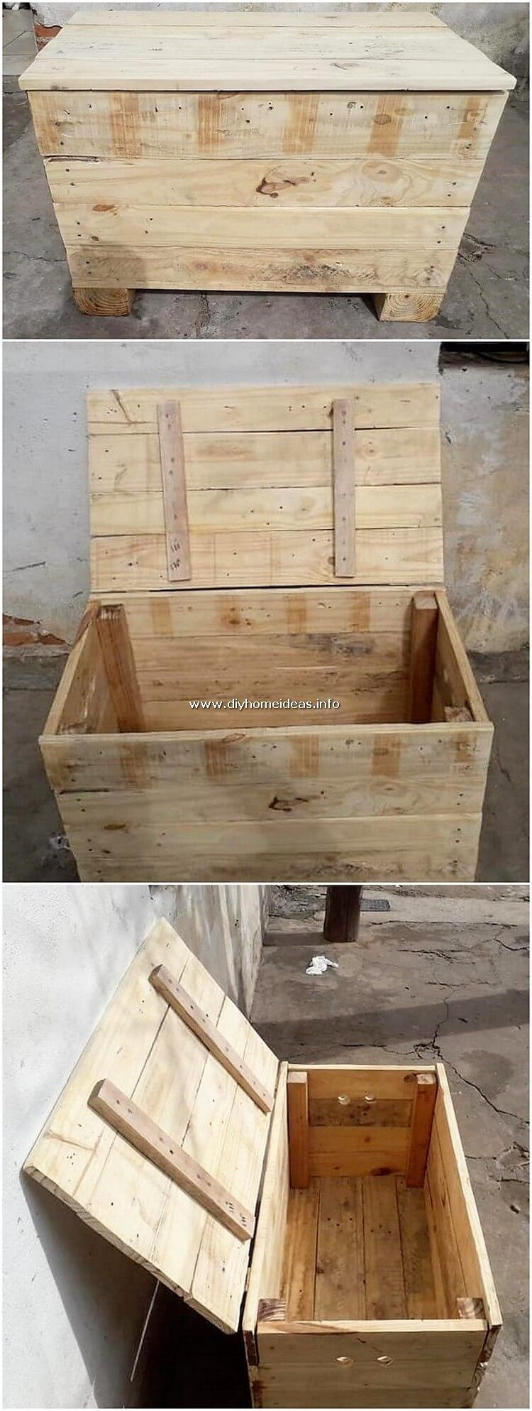 This Wood Pallet Storage Box Set With Wooden Work Flavor Is Fantastically Designed With The Involvement Of Stockage De Palette Palette Diy Creation En Palettes