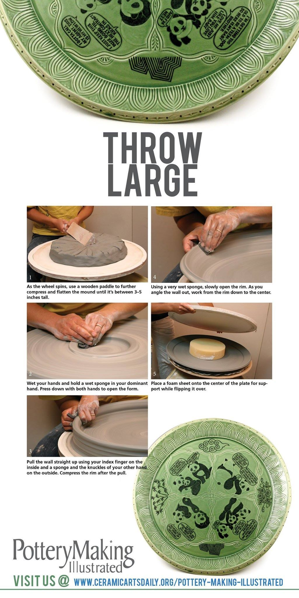 How to Throw Large Platters No Matter What Your Size - Ceramic Arts Network  sc 1 st  Pinterest & Check out how Yoko Sekino-Bove throws large plattersu2013plus check out ...