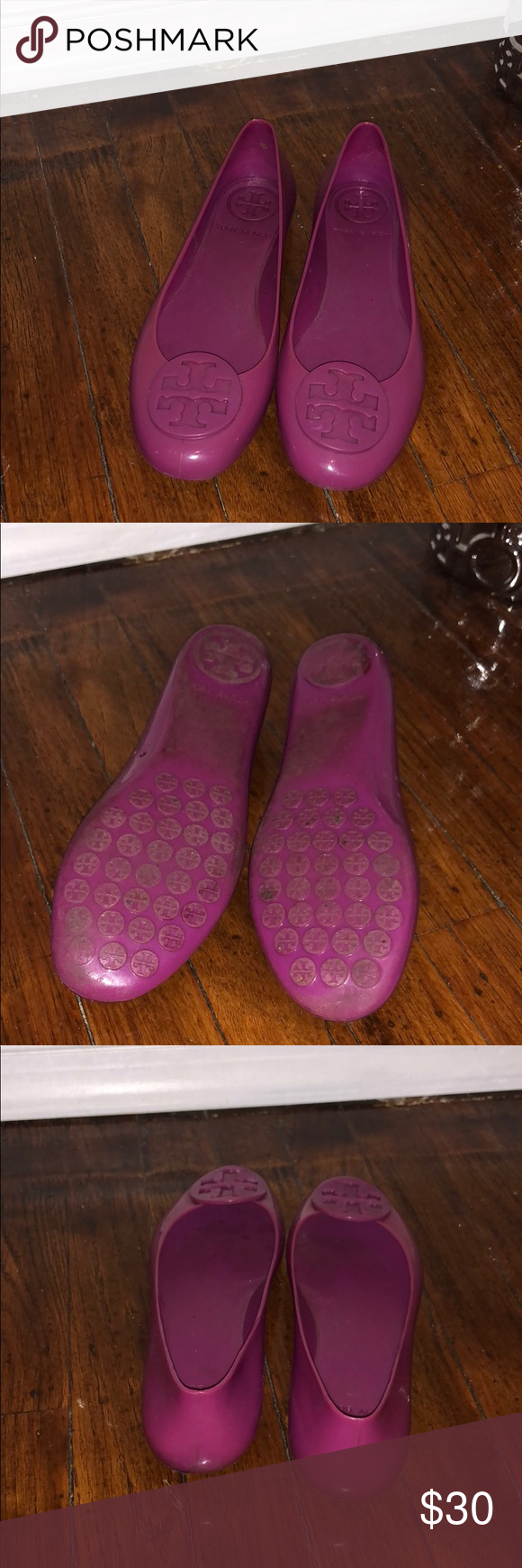 a1c89d246f99 I just added this listing on Poshmark  Flat magenta Jellies.  shopmycloset   poshmark  fashion  shopping  style  forsale  Tory Burch  Shoes