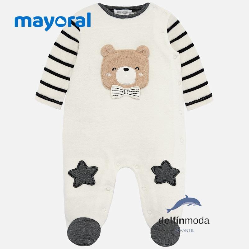 Pijama De Terciopelo Para Bebe Nino Mayoral Carita Oso Ropa Para