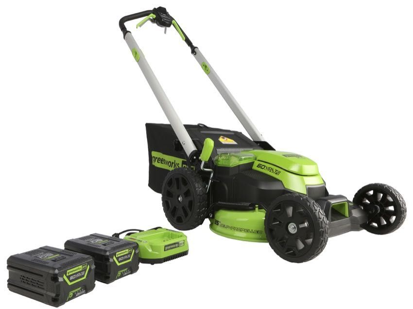 Greenworks Pro 60v 25 Inch Self Propelled Lawn Mower Review Ptr In 2020 Lawn Mower Lawn Mower Storage Greenworks