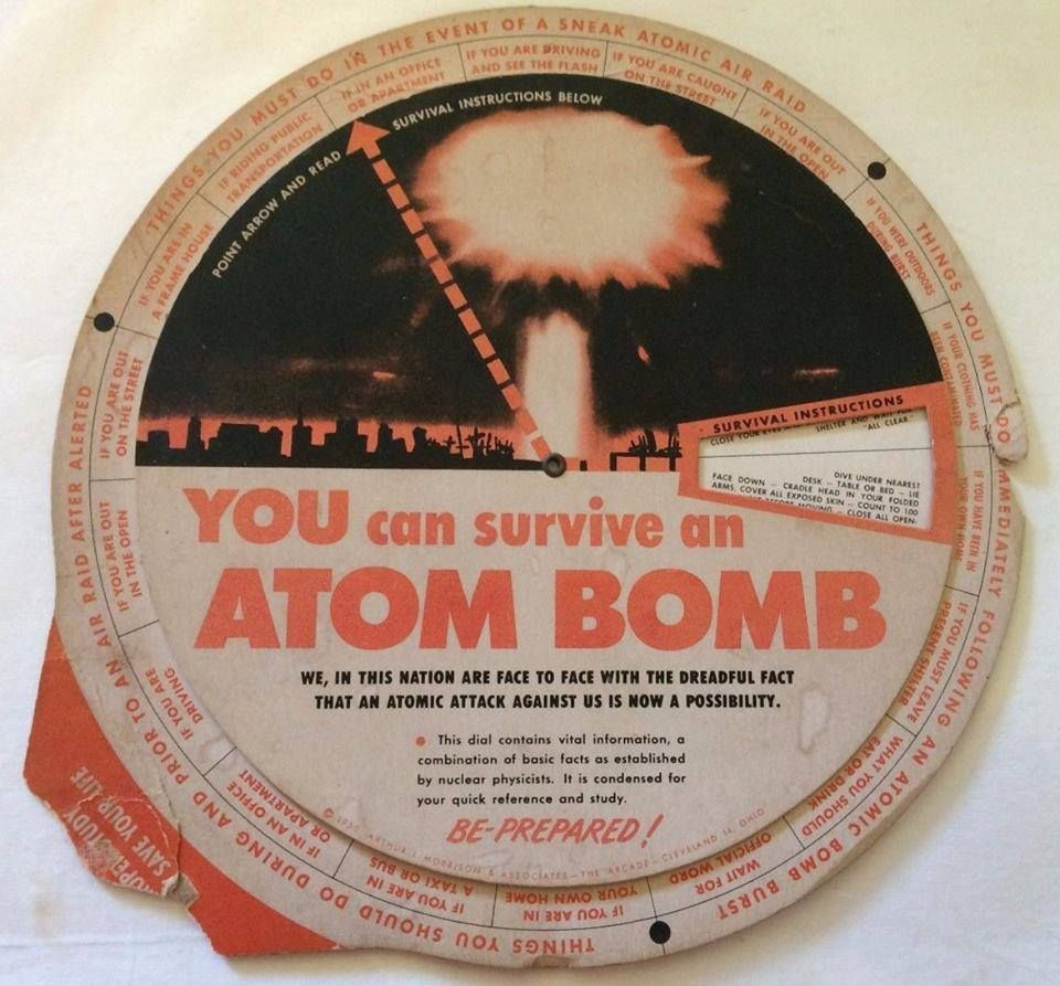 Atomic Bomb Survival Dial. 1950. https://www.facebook.com/pages/CONELRAD-All-Things-Atomic/17563518117