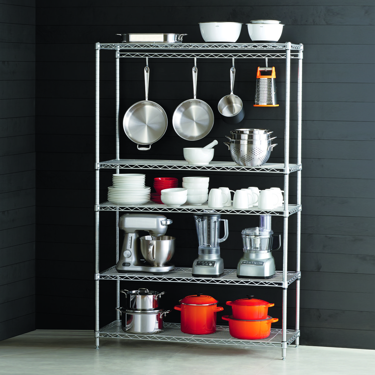 Our InterMetro Kitchen Cookware Storage features Wire