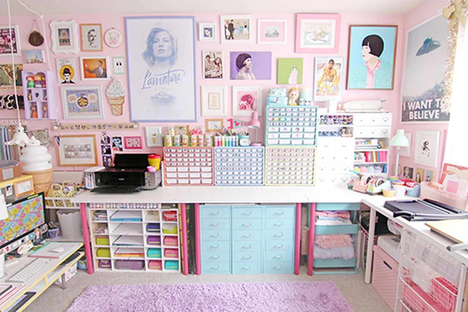 Awesome 99 creative art studio organization ideas for