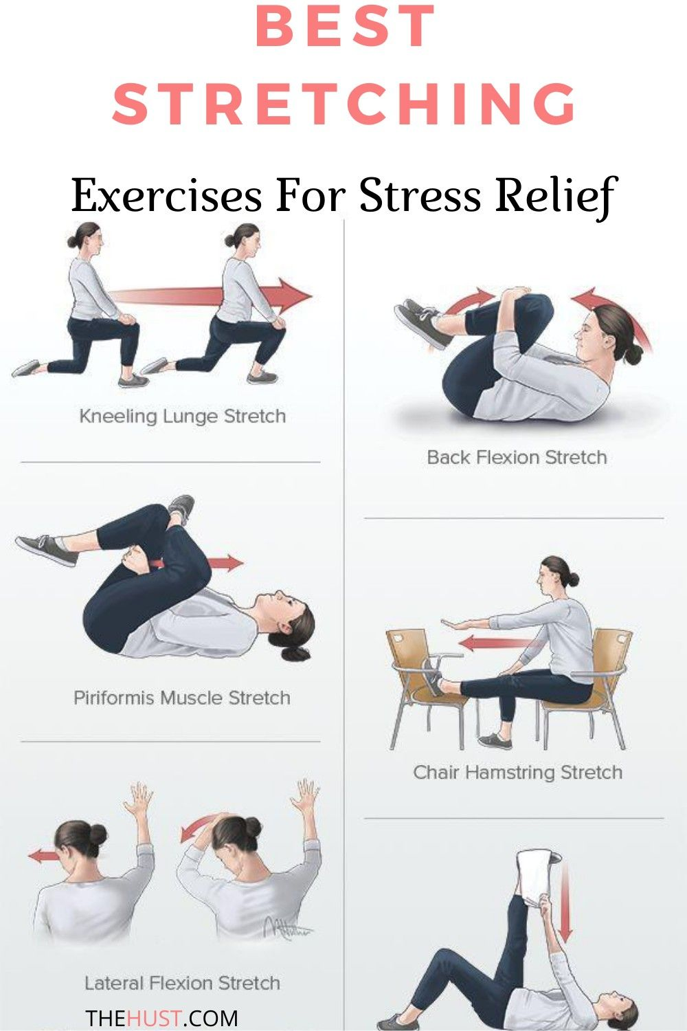 50+ Stretches to relieve stress inspirations