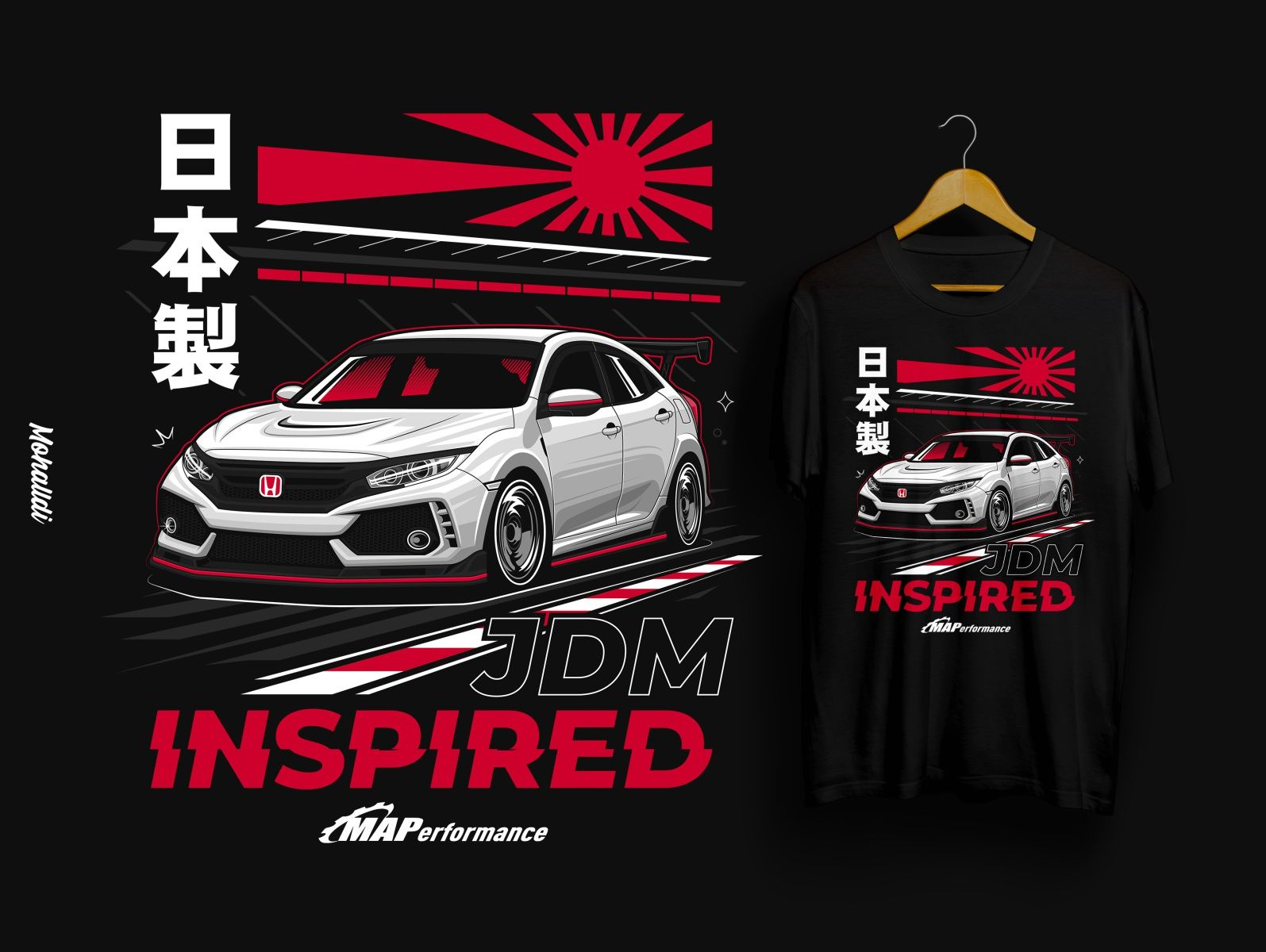Honda Civic Type R Sport Car Illustration In 2021 Honda Civic Type R Honda Civic Car Sticker Design [ 1200 x 1595 Pixel ]
