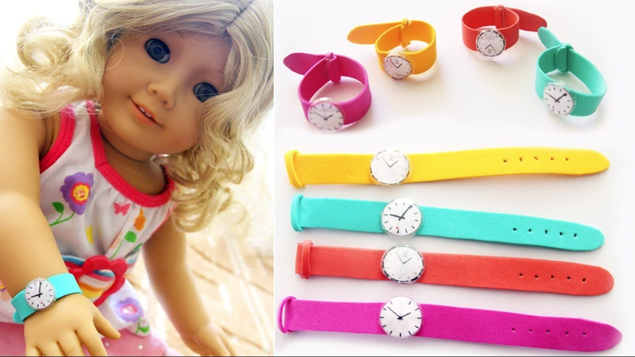 Diy American Girl Doll Wrist Watch Easy Doll Crafts