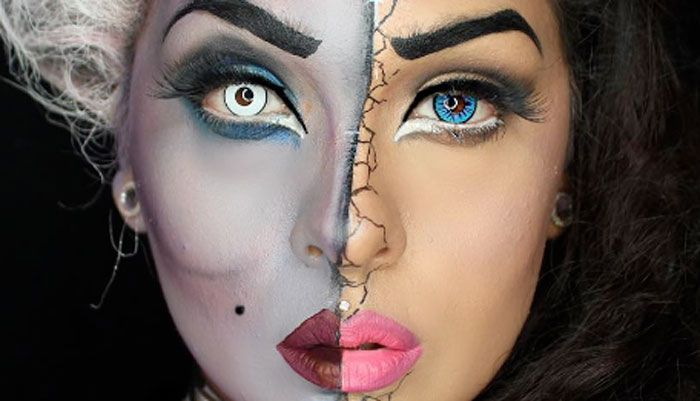 This Ursula Vanessa Split Face Makeup Tutorial Is What Disney