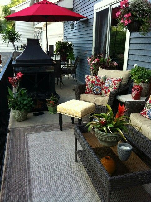 Deck Furniture Ideas fireplace from lowe's love it! deck decor ideas | deck decorating