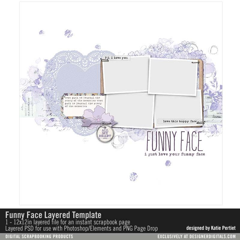 Funny Face Layered Template- Katie Pertiet - PSE/PS Templates ...