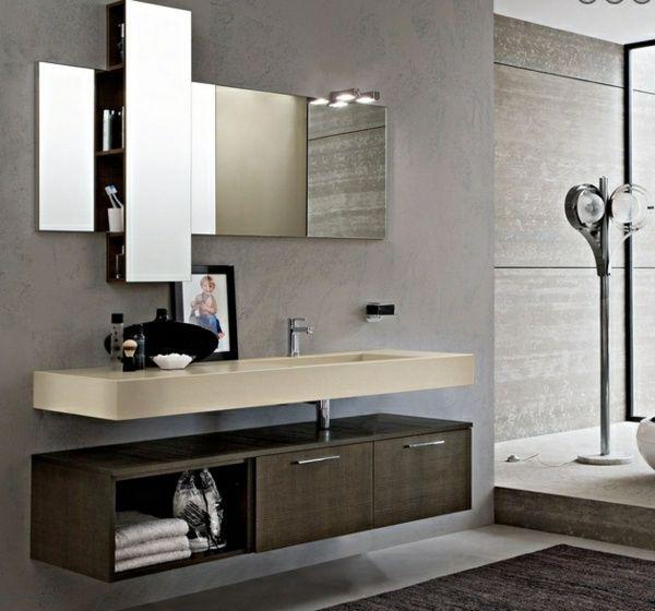 Salle de bains moderne - 45 idées d\u0027inspiraion Master bathrooms - Salle De Bain Moderne Grise