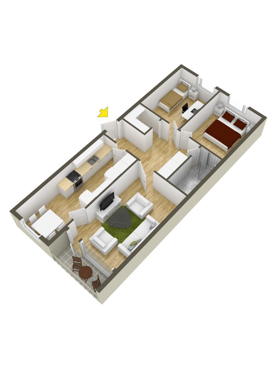 40 More 2 Bedroom Home Floor Plans AHOMEDESIGNING