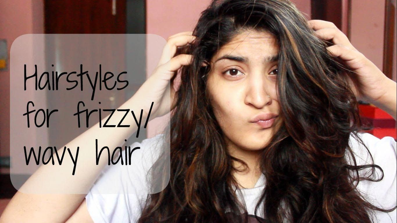 Hairstyle For Curly Hair Girl Step By Step Curly Hairstyle Hairstylesforcurlyhair Easyhairstylesstepbystep Frizzy Wavy Hair Thick Wavy Hair Hair Styles