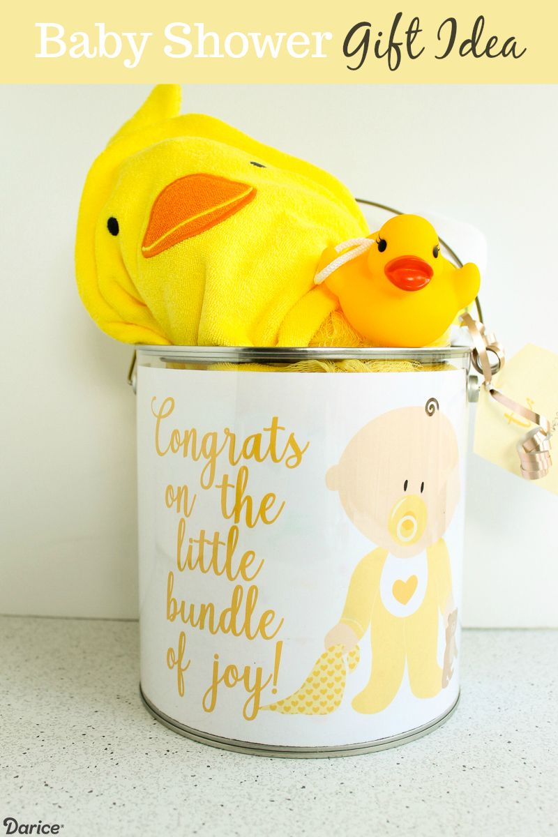 Diy Baby Shower Gift For A Gender Neutral Theme Darice Diy Baby Shower Gifts Unisex Baby Gifts Diy Baby Stuff