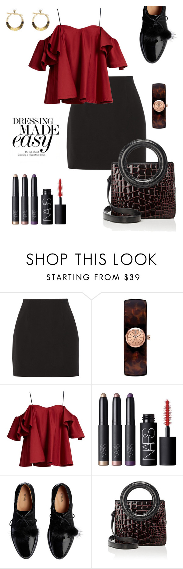 """I Feel Awesome Today!"" by schenonek ❤ liked on Polyvore featuring Elizabeth and James, Caravelle by Bulova, Anna October, NARS Cosmetics, Opening Ceremony and Alexis Bittar"