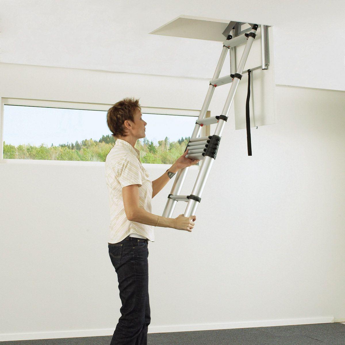 Modern Pull Down Attic Ladder Loft Ladder Tiny House Loft Attic Ladder