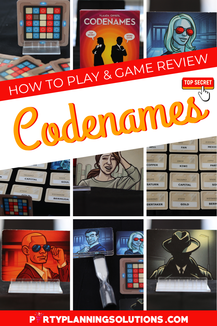 Codenames Party Game Review How To Play Game Reviews Family Game Night Party Games