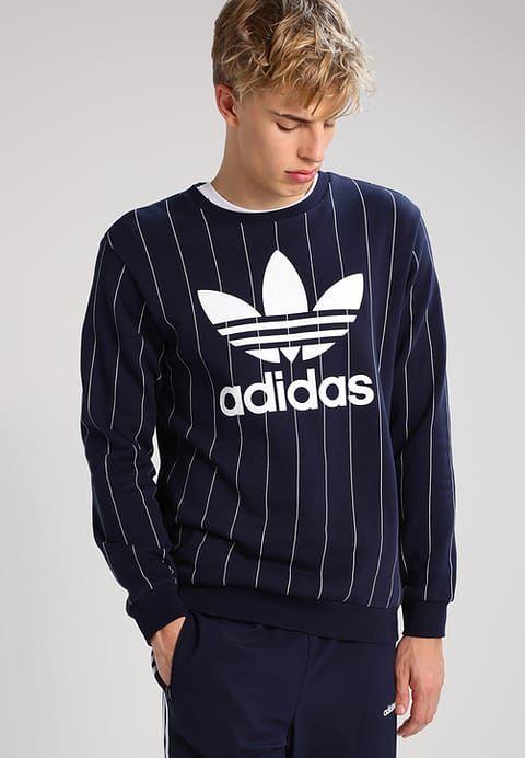 Kleding adidas Originals Sweater - dark blue Donkerblauw ...