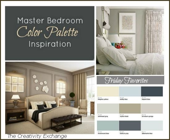 Master bedroom paint color inspiration friday favorites for Bedroom color inspiration pinterest