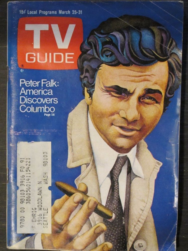 Tv guide magazine march 25, 1972 peter falk of columbo | front.