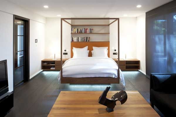 Walnut four poster bed for Architeam