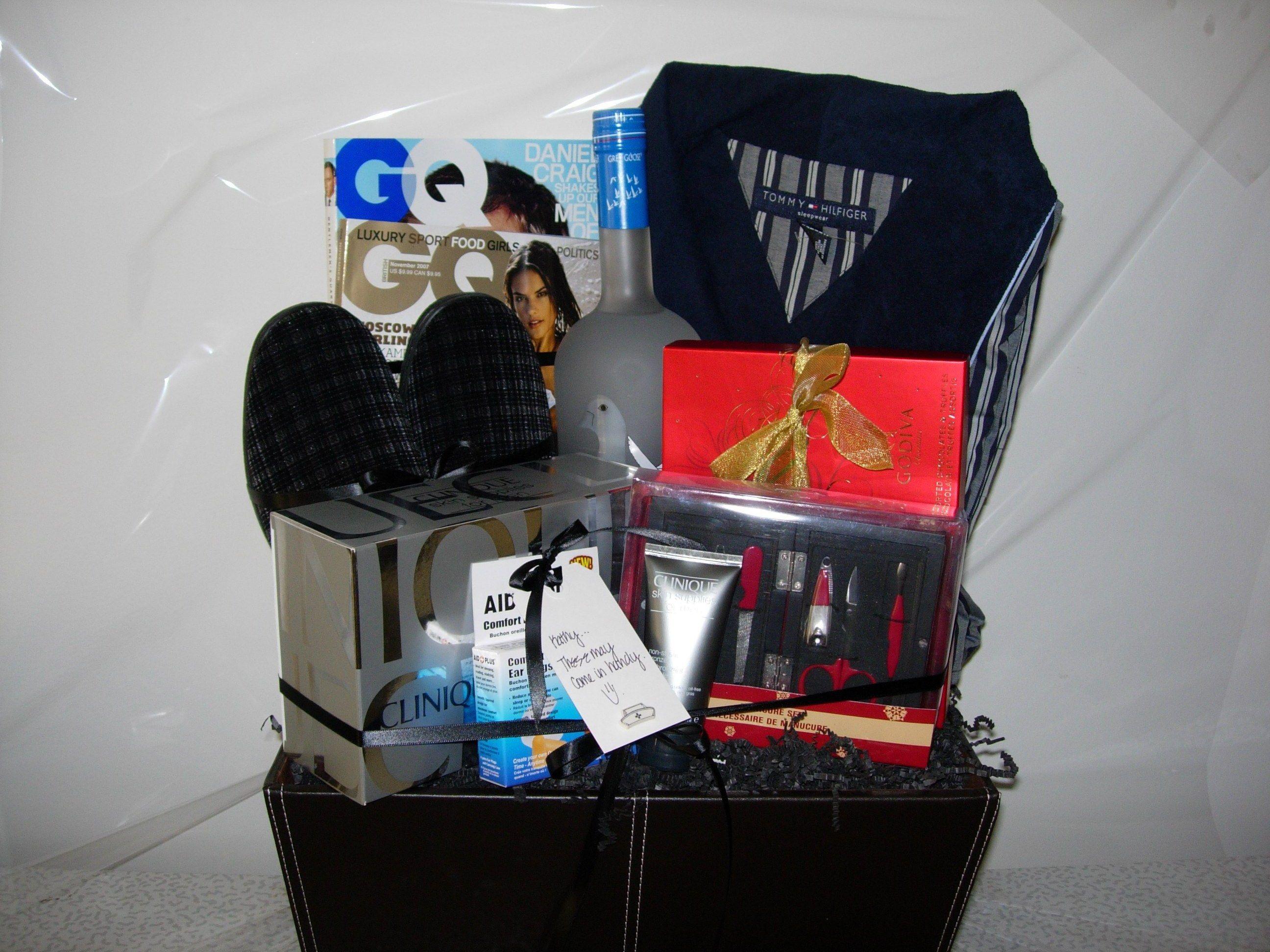 Mens Gift Basket | Baby shower ideas | Pinterest