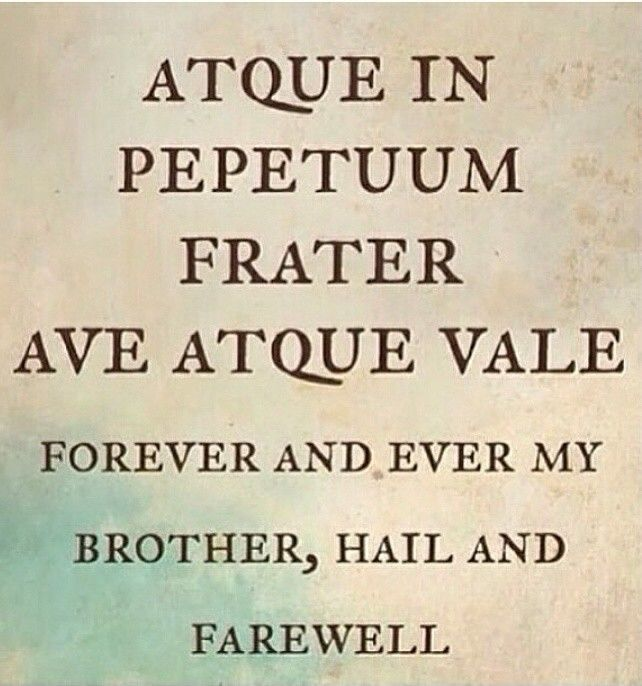 ave atque vale mortal instruments latin quotes