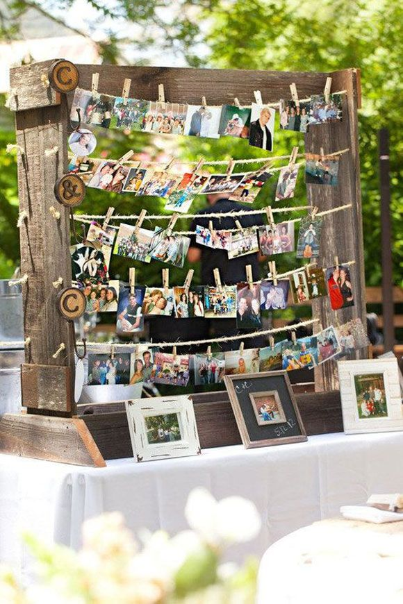 Ideas para colocar las fotos el día de tu boda