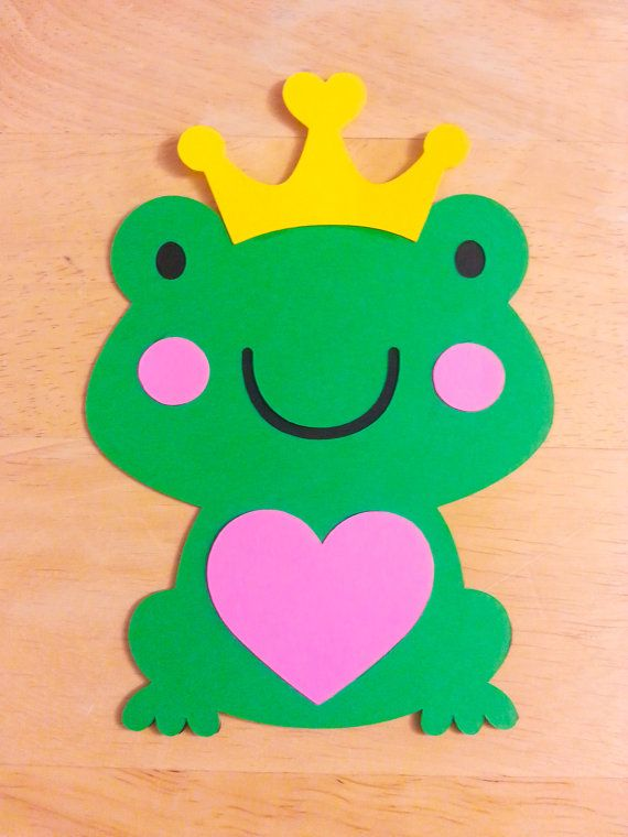 Frog Prince Cut Out Centerpiece Cake Topper by DimenchonsDesigns, $3.99