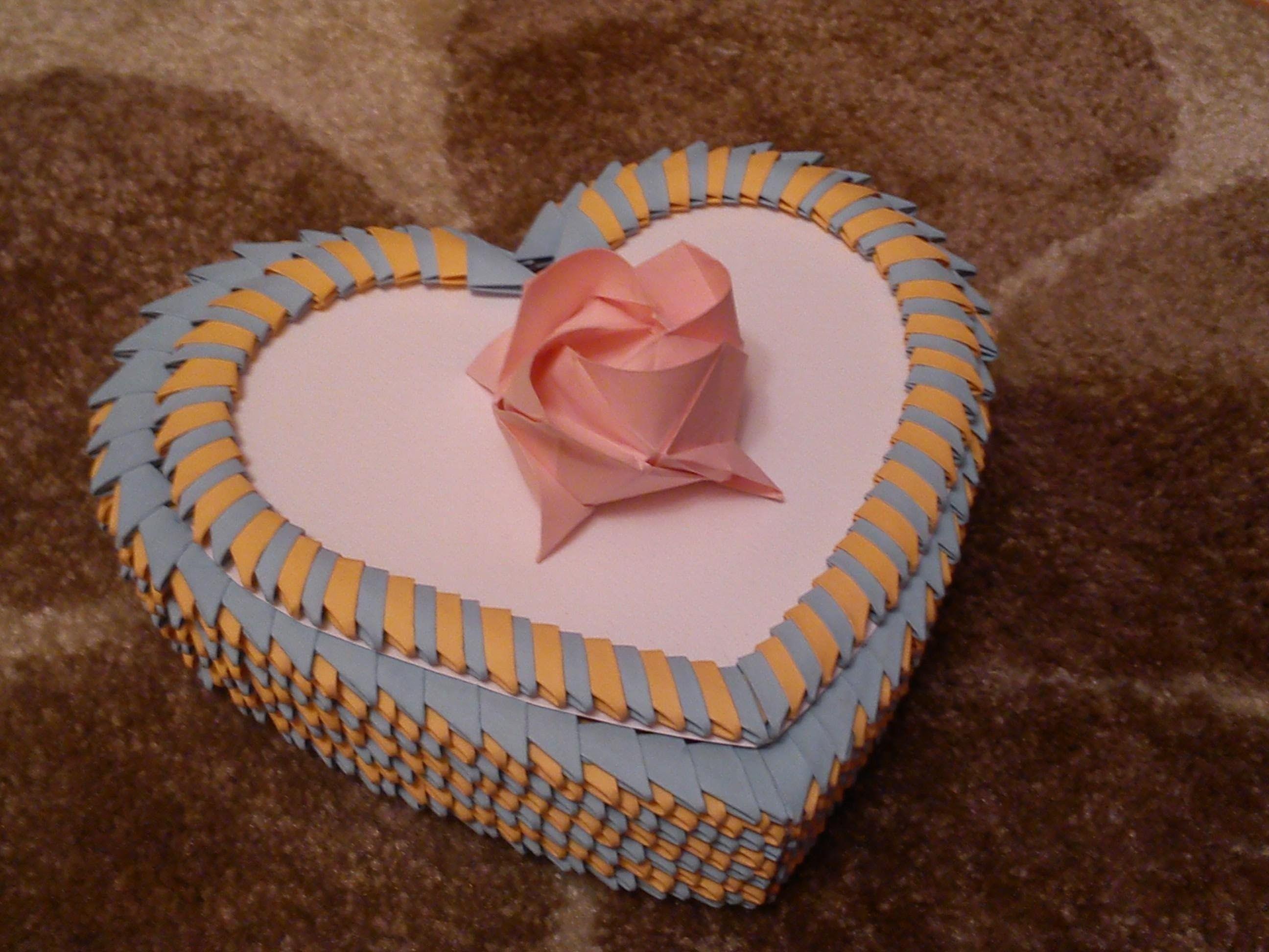 Origami Opening Heart Box / Envelope Tutorial - Paper Kawaii | 1944x2592
