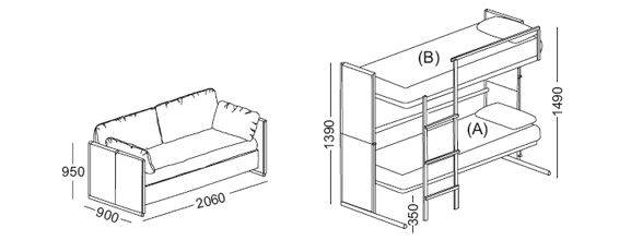 Doc Sofa Bunk Bed From Clei