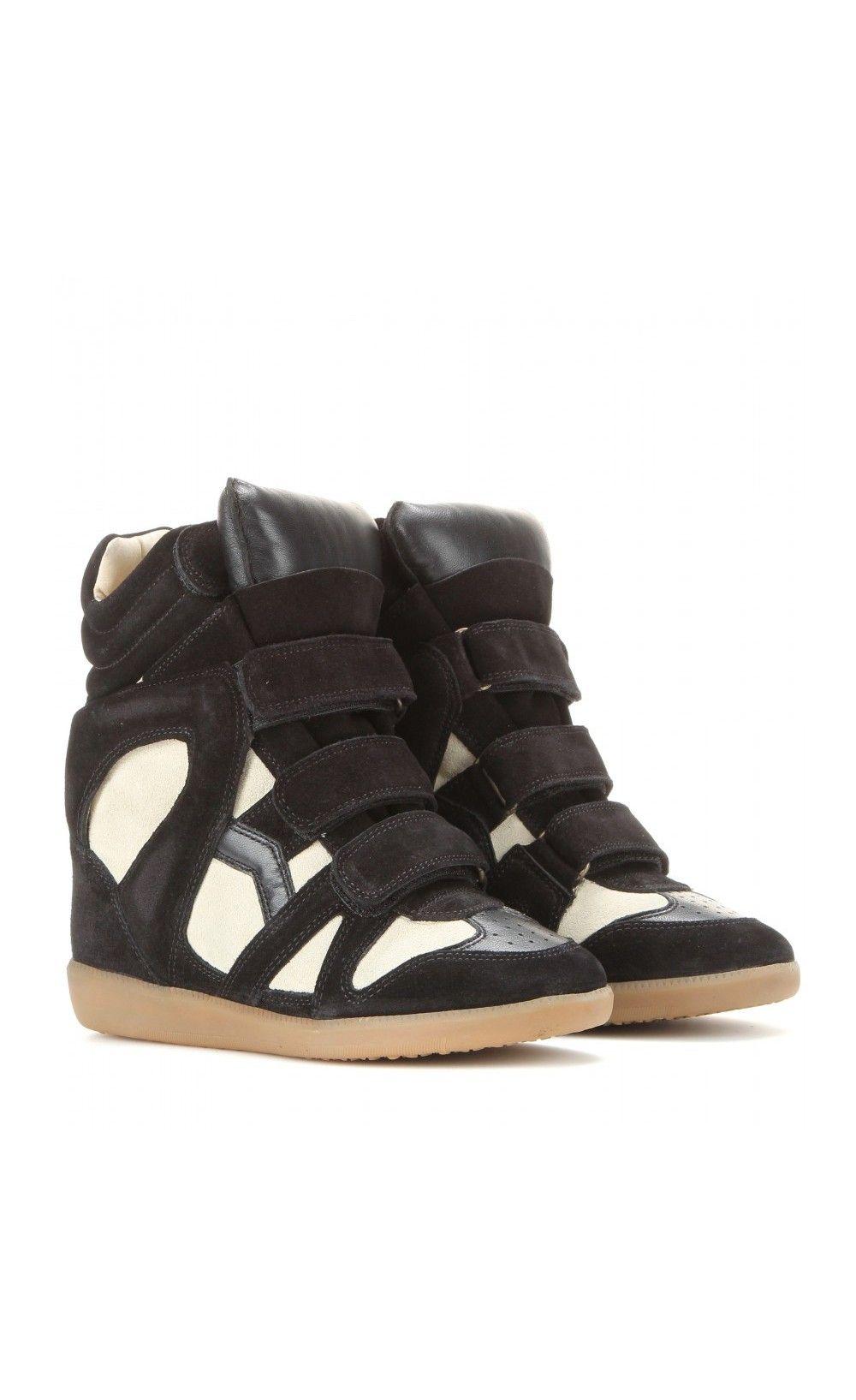 31dc95e89e Isabel Marant Bekett Wedge Sneakers Black & Ecru - Isabel Marant ...