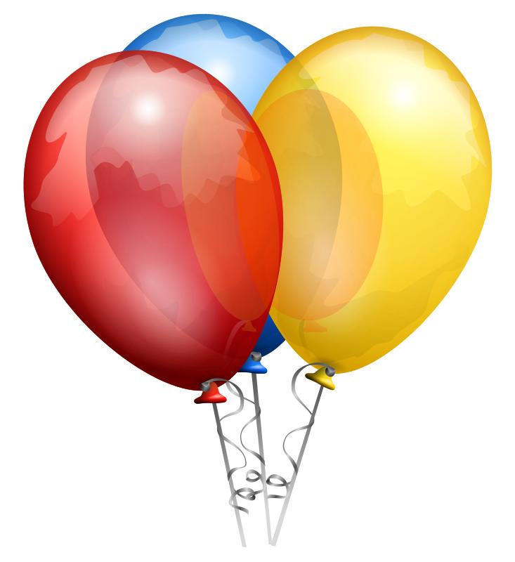 Balloons Clip Art Clip Art Three Christmas Balloons