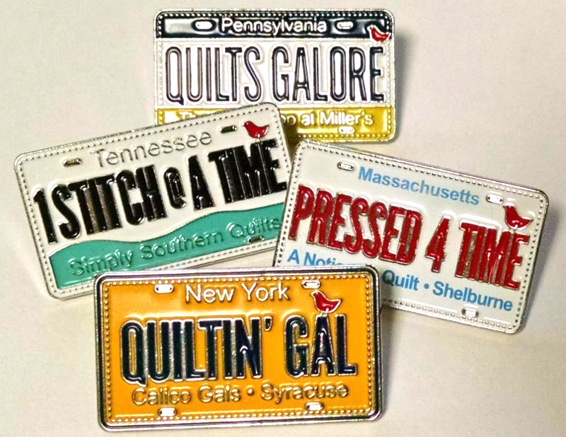 Start watching for these Custom License plate pins in your ... : quilt shops in massachusetts - Adamdwight.com