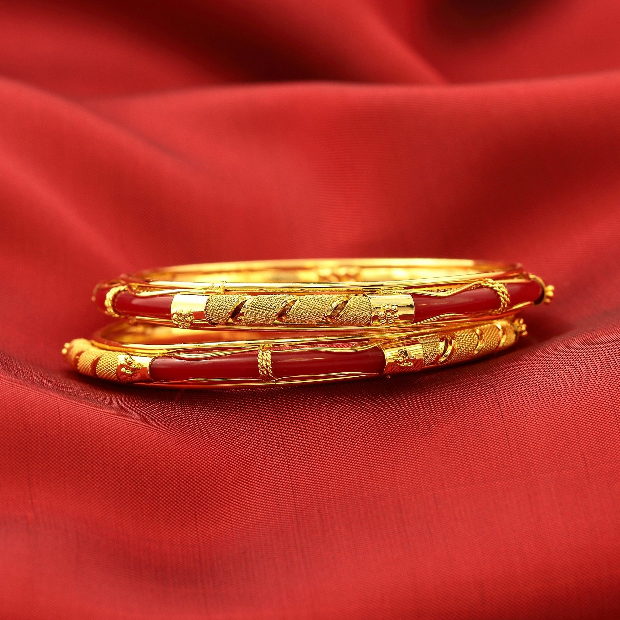 bangle plated jewellery gold imitation south size kerala traditional online design designed indian bangles swan