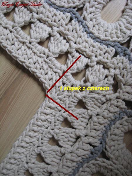 Latające dywany: Kwadratowy dośrodkowy dywan | Teppich häkeln ...