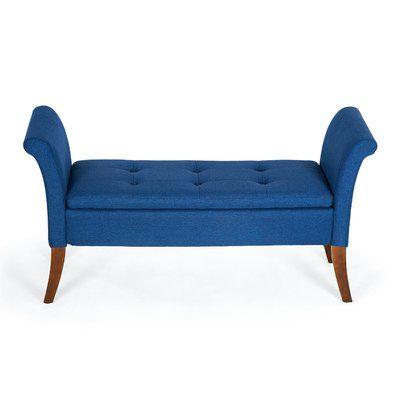 George Oliver Yokoyama Upholstered Storage Bench Upholstered Storage Bench Tufted Storage Bench Living Room Bench
