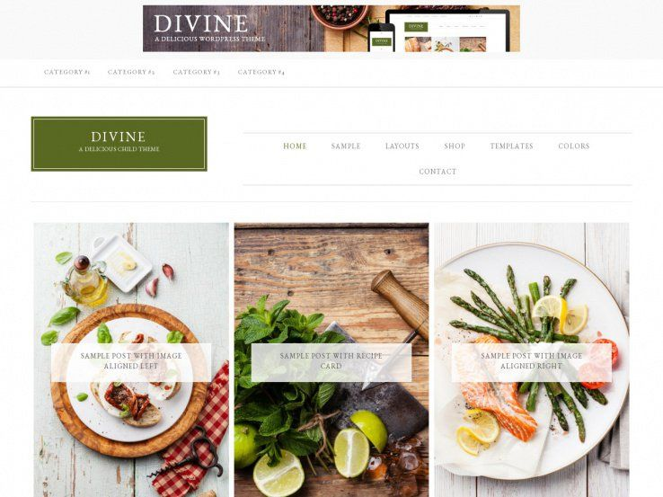 Food Blog Template. 17 food recipes website themes templates free ...