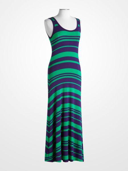 Calvin klein nautical stripe maxi dress