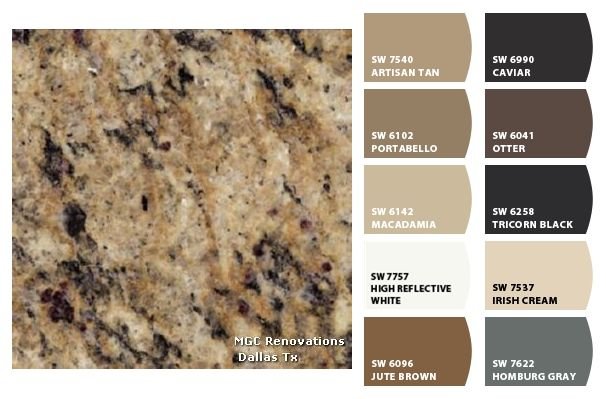 Granite Santa Cecilia Gold ColorSnap By SherwinWilliams Best Backsplash For Santa Cecilia Granite Countertop Painting