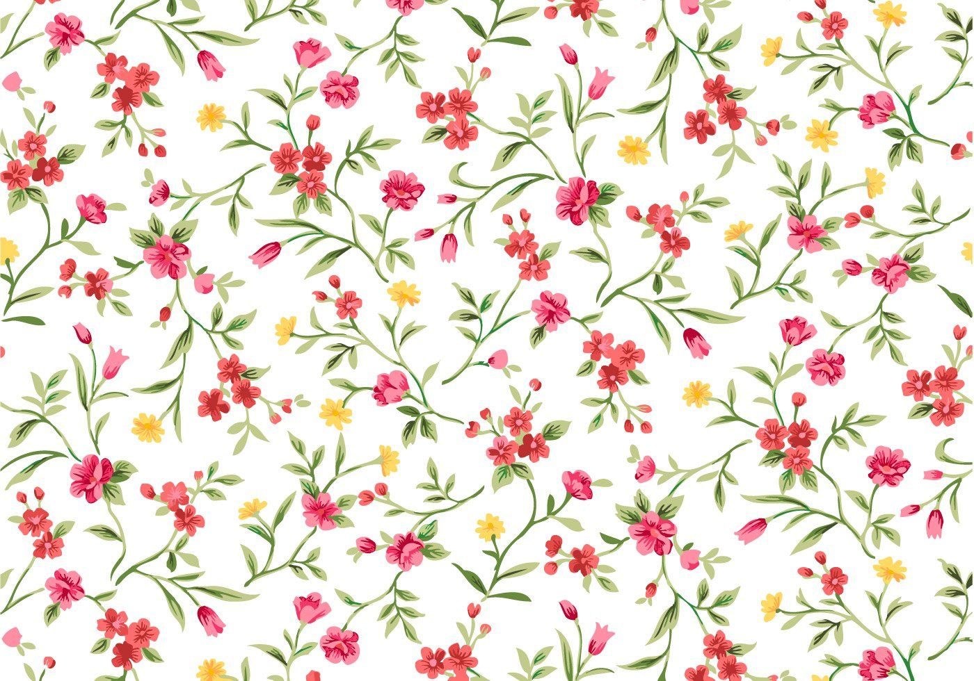 Watercolor Floral Seamless Background Vector Graphic