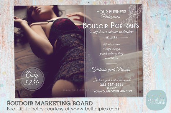 IL004 Boudoir Marketing Board x2 | Template, Business flyers and ...