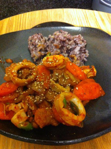 Osam-bulgogi (오삼불고기): Spicy Squid and Pork Belly | Pork ...