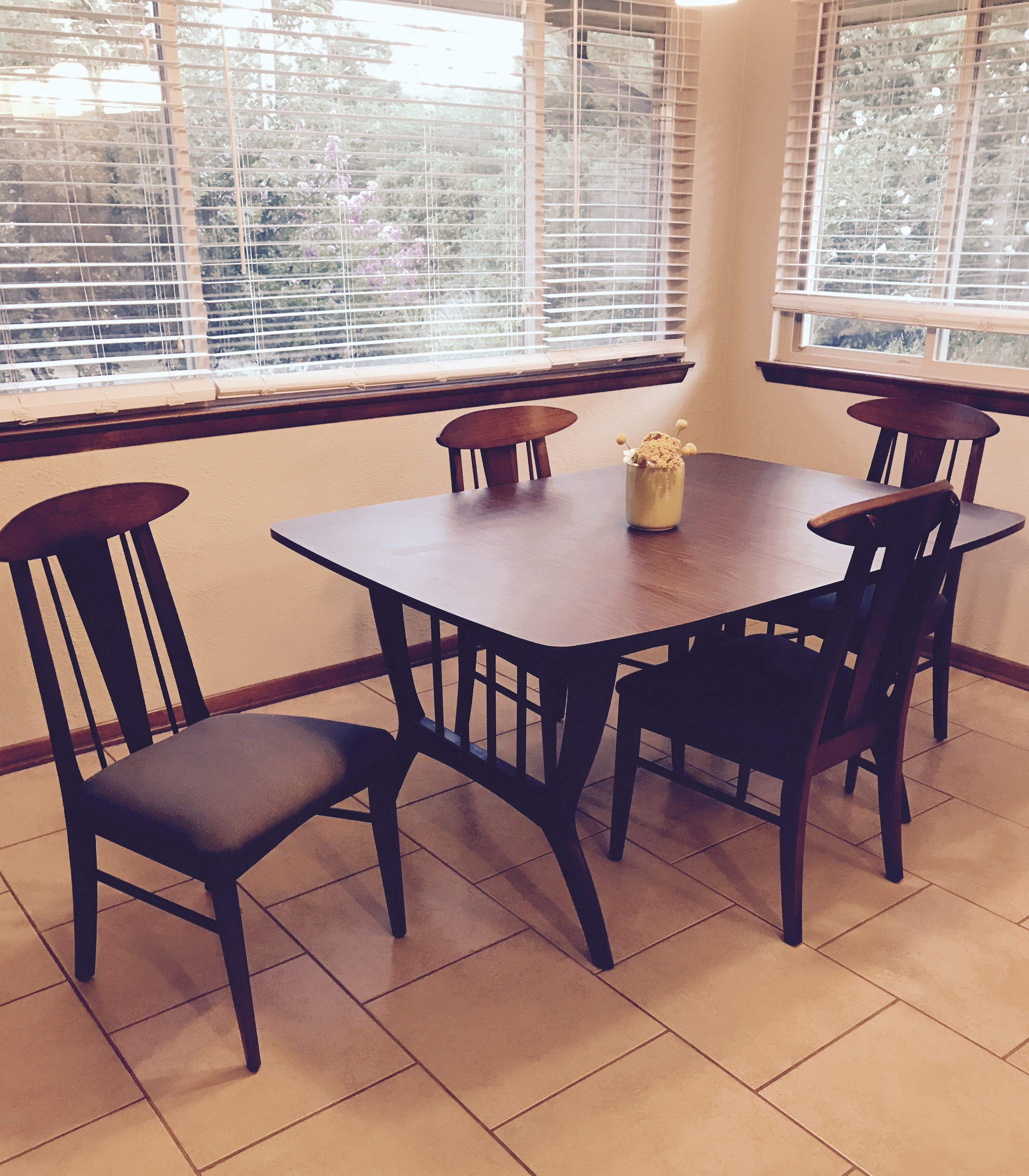 Mid Century Modern Dining Table And Chairs 1960 S Atomic Age Made