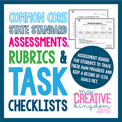 Kindergarten common core ela and math assessment rubric and task common core state standard assessments rubrics task checklists first 5 downloads are free use coupon code commoncore14 fandeluxe Gallery