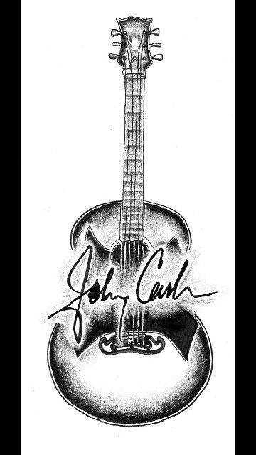 Johnny cash guitar tattoo